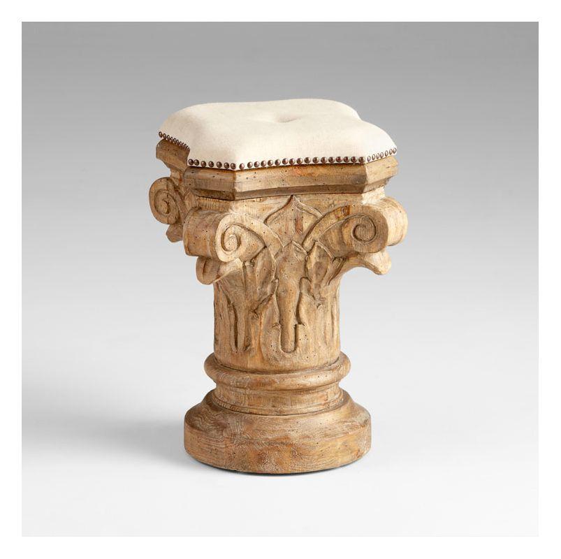 "Cyan Design 05294 16"" Decorative Stool Limed Gracewood Furniture"