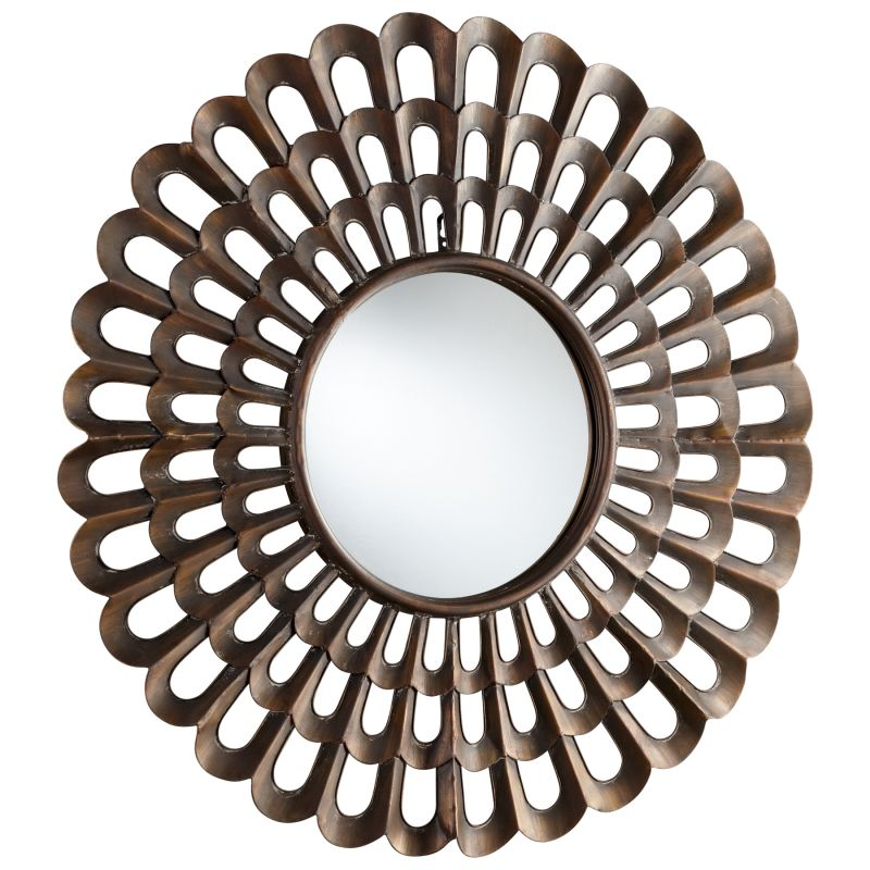 Cyan Design 05341 Agoura Rounded Mirror Bronze Home Decor Lighting