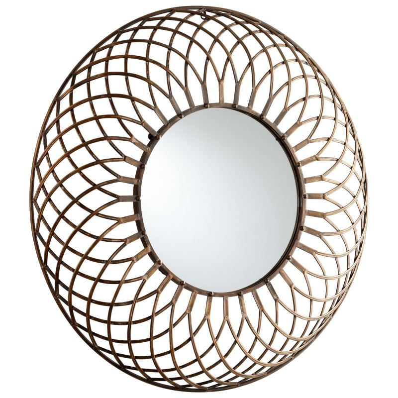 Cyan Design 05342 Fairplex Rounded Mirror Bronze Home Decor Lighting