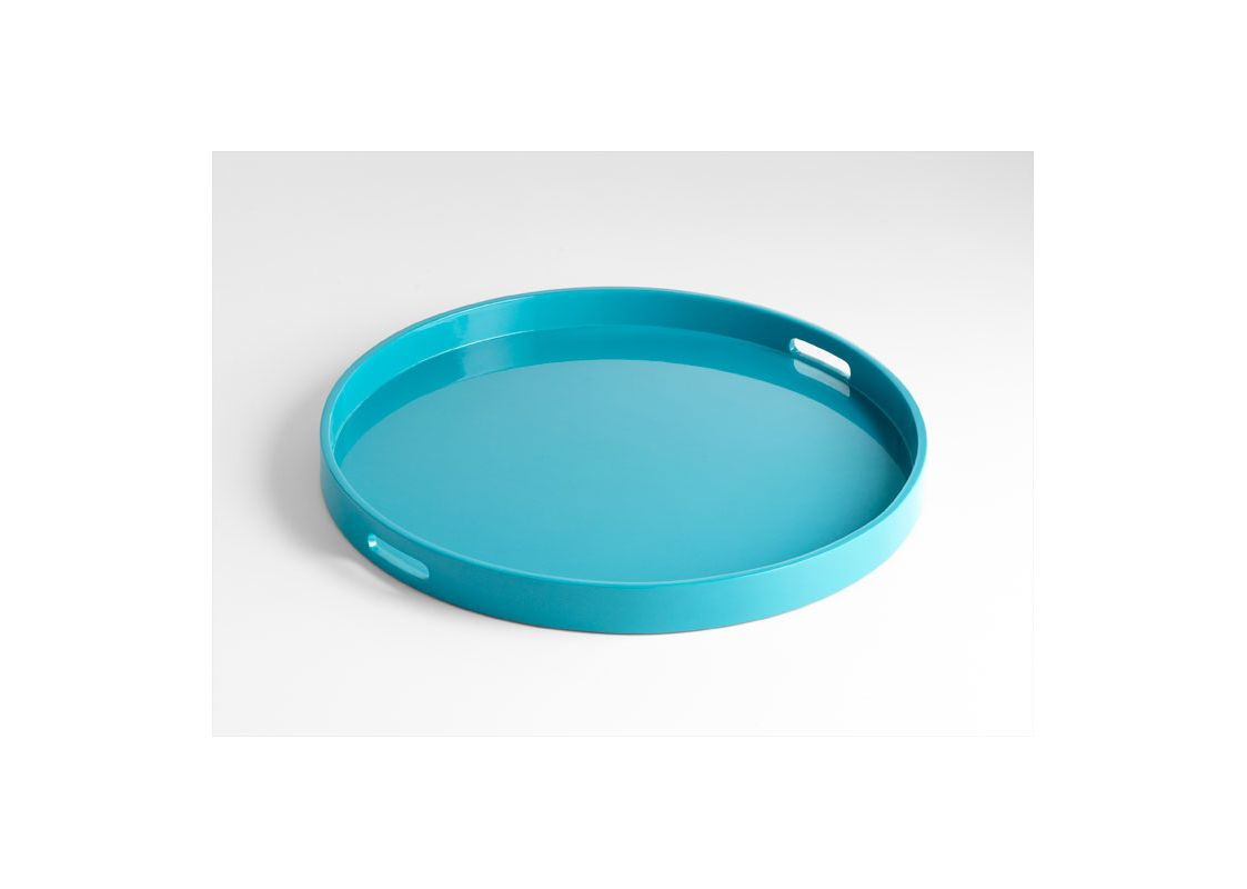 Cyan Design 05479 Large Estelle Tray Teal Lacquer Home Decor