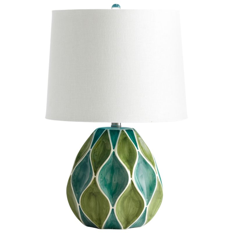 Cyan Design 05564 Glenwick 1 Light Table Lamp Green and White Glossy
