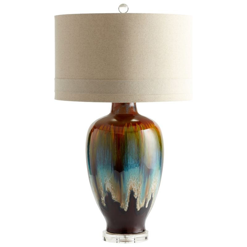 Cyan Design 05574 Hayes 1 Light Table Lamp Brown Bronze Rust Lamps