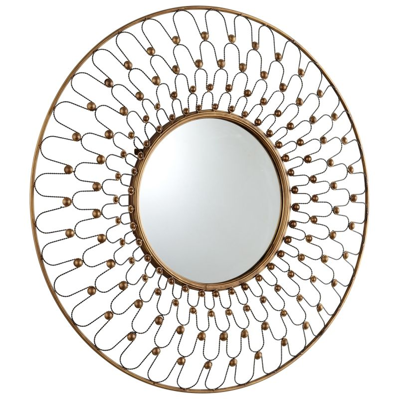 Cyan Design 05611 Cordova Rounded Mirror Gold Home Decor Lighting
