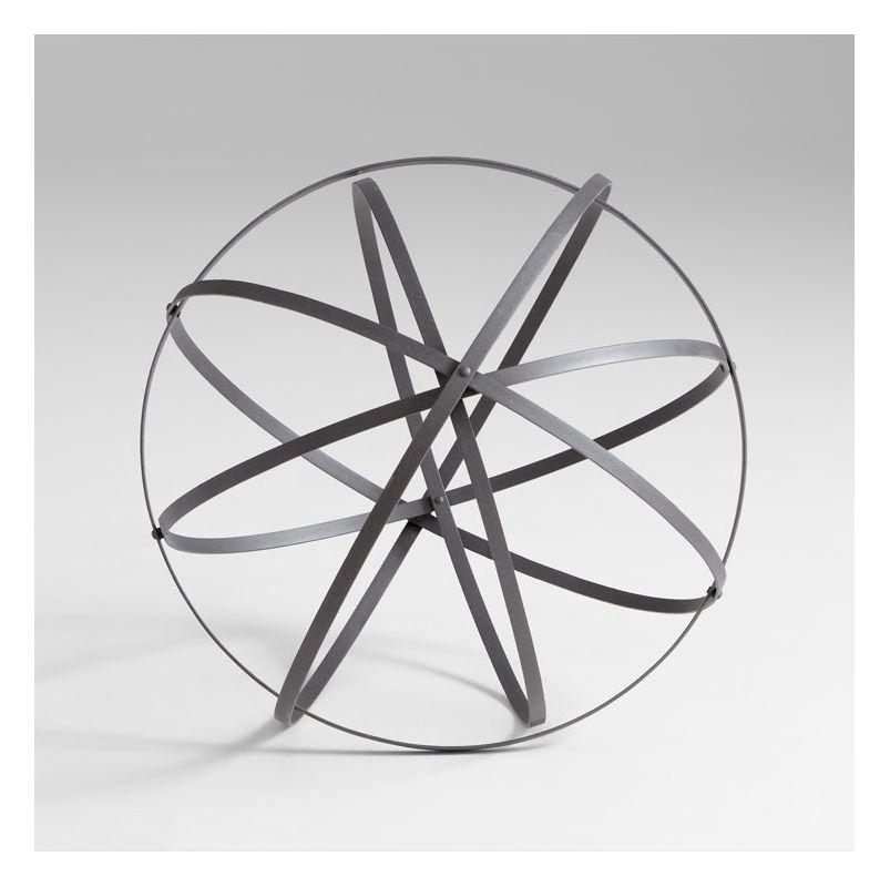 "Cyan Design 05651 27.5"" Large Sphere Rustic Gray Home Decor Bowl &"