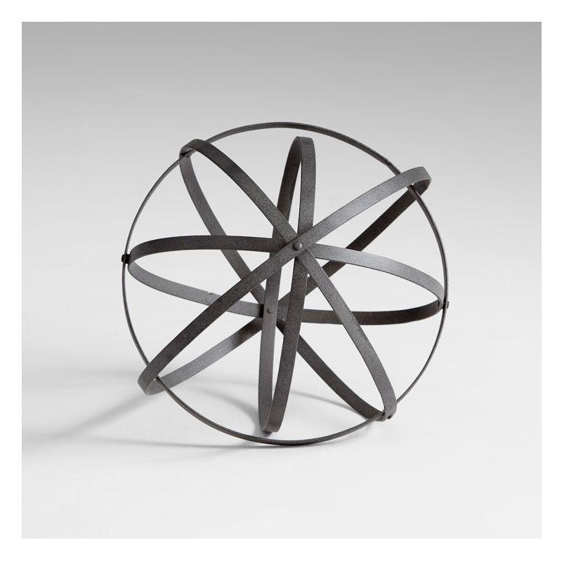 "Cyan Design 05653 16"" Small Sphere Rustic Gray Home Decor Bowl & Vase"