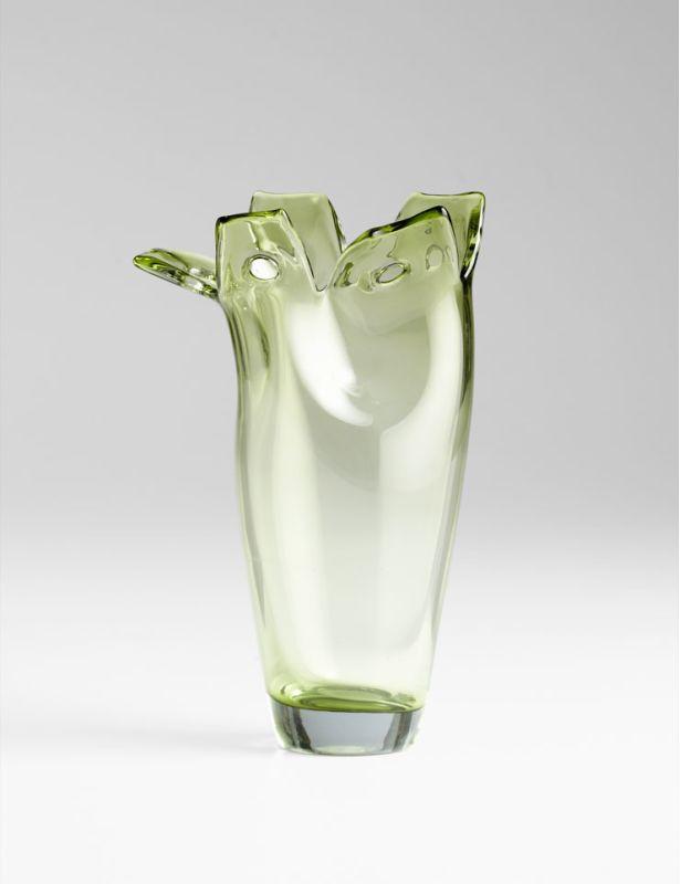 "Cyan Design 05665 11.5"" Small Chevel Vase Green Home Decor Vases"