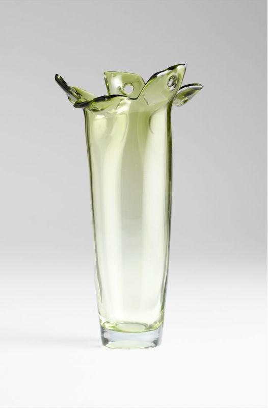 "Cyan Design 05666 15"" Large Chevel Vase Green Home Decor Vases"