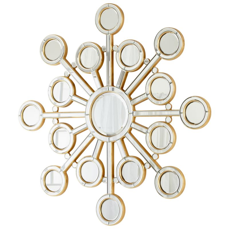 Cyan Design 05702 Orion Rounded Mirror Clear and Gold Home Decor
