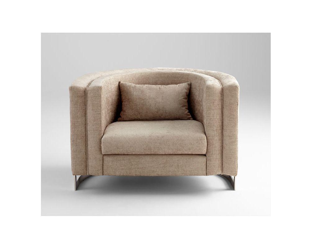 Cyan Design 05751 Donatello Chair Treasure Beige Furniture Arm Chairs