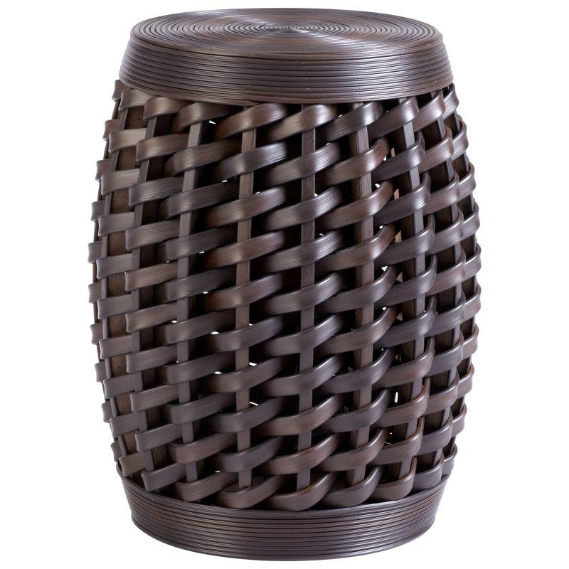 "Cyan Design 05809 19"" Woven Sienna Stool Espresso Furniture Stools"
