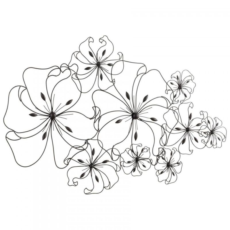 Cyan Design 05833 31&quote Six Flower Fancy Wall Art Graphite Home Decor