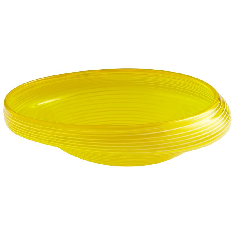 """Cyan Design 05861 17"""" x 15.5"""" Small Lemon Drop Bowl Yellow Home Decor"""
