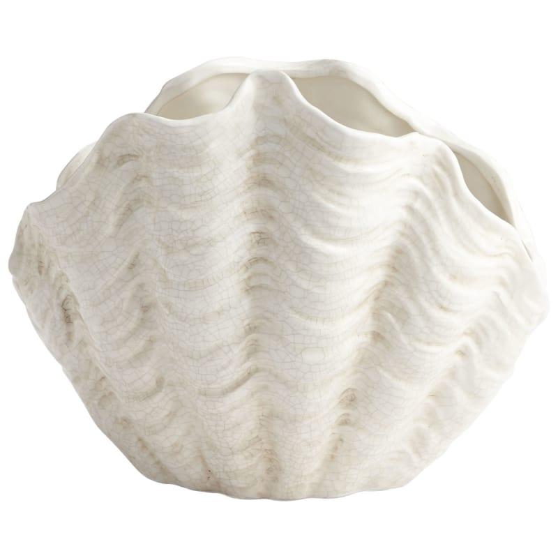 "Cyan Design 08704 Michelle My Shell 11"" Tall Ceramic Planter White"
