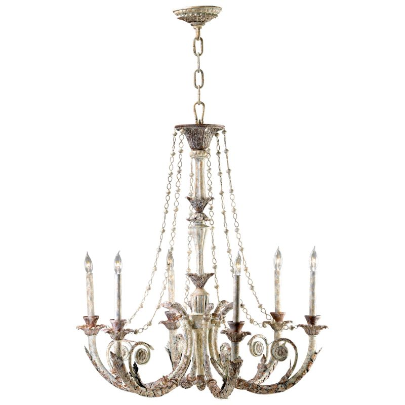 "Cyan Design 6491-6-28 Abelle 6 Light 1 Tier Chandelier White and Lime Sale $1245.00 ITEM: bci2257698 ID#:1677009 UPC: 190808000910 Features: Made of Iron which has excellent durability and strength and provides a beautiful rustic feel in its applicationsSpecifications: Number of Bulbs: 6 Bulb Base: Candelabra (E12) Bulb Type: Incandescent Bulb Included: No Watts Per Bulb: 60 Wattage: 360 Height: 35"" Width: 33.5"" UL Listed: Yes UL Rating: Dry LocationLamping Technologies: Bulb Base - Candelabra (E12): The E12 (Edison 12mm), Candelabra Edison Screw (CES), ""Candelabra"" is a term for the small-based incandescent light bulbs used in luminaires made for lighting and decoration. Compatible Bulb Types: Nearly all bulb types can be found for the E12 Candelabra Base, options include Incandescent, Fluorescent, LED, Halogen, and Xenon / Krypton.Compliance: UL Listed - Indicates whether a product meets standards and compliance guidelines set by Underwriters Laboratories. This listing determines what types of rooms or environments a product can be used in safely. :"