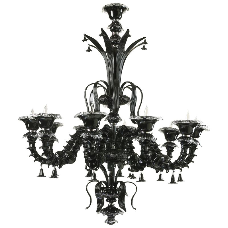 Cyan Design 6511-10-15 Venetian Noir 10 Light 1 Tier Chandelier Black
