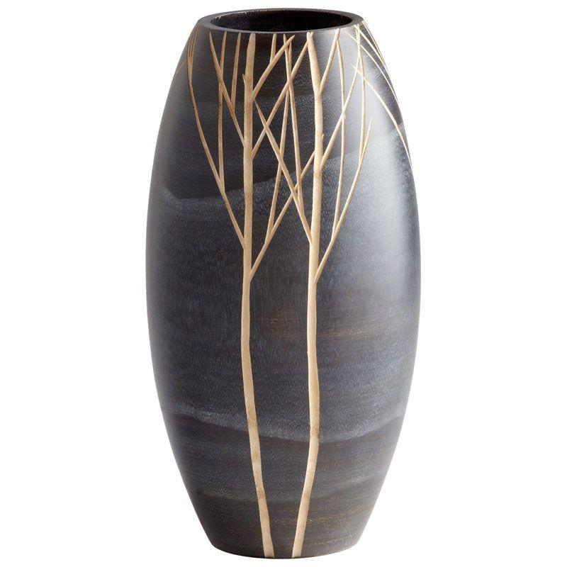 Cyan Design Small Onyx Winter Vase Onyx Winter 14 Inch Tall Wood Vase