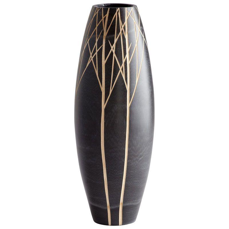 Cyan Design Large Onyx Winter Vase Onyx Winter 26 Inch Tall Wood Vase