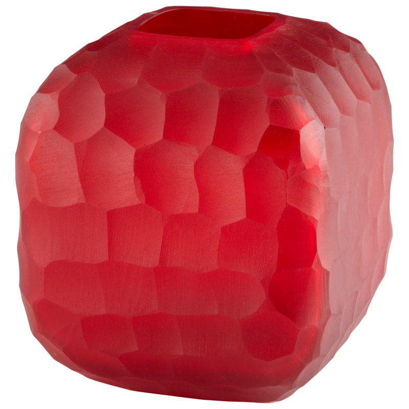 Cyan Design Small Rowan Vase Rowan 7.5 Inch Tall Glass Vase Red Home