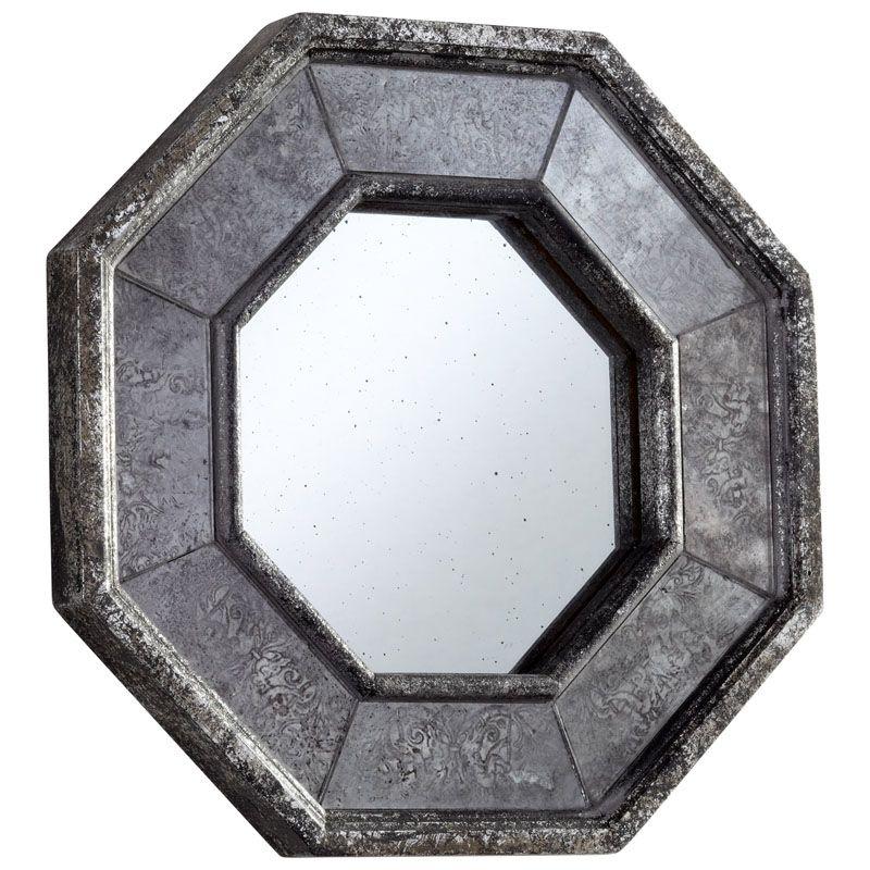 Cyan Design Sparta Mirror 13.25 x 13.25 Sparta Octagonal Wood Frame