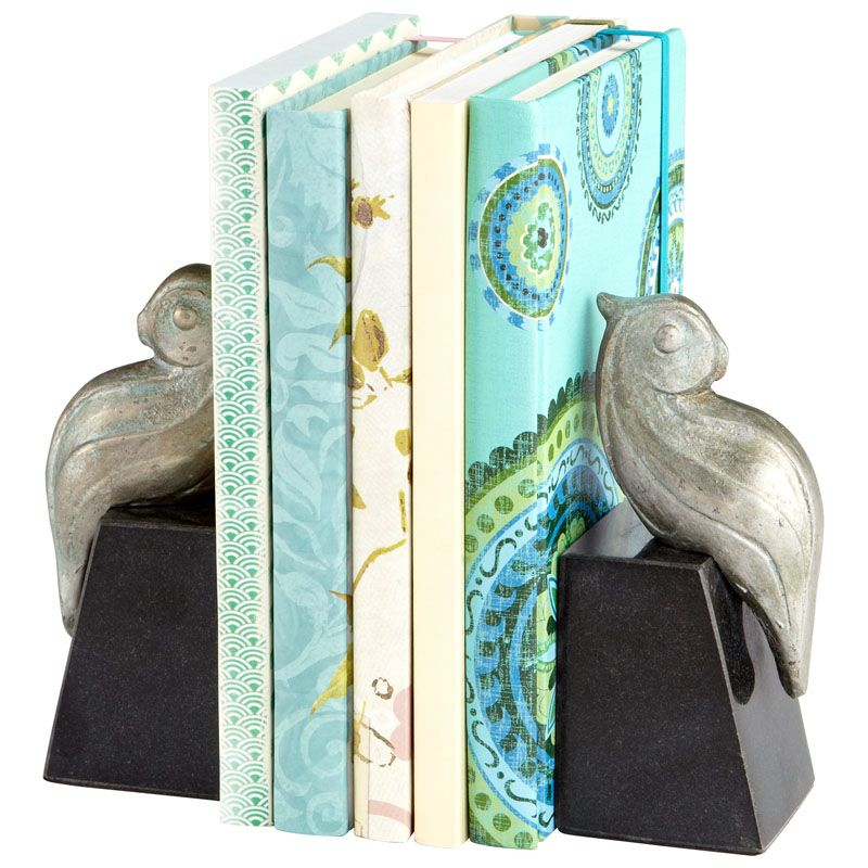 Cyan Design Perched Bird Bookends 6 Inch Tall Perched Bird Bookends