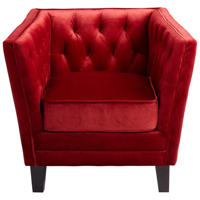 Cyan Design Red Prince Valiant Chair Prince Valiant 27.5 Inch Tall