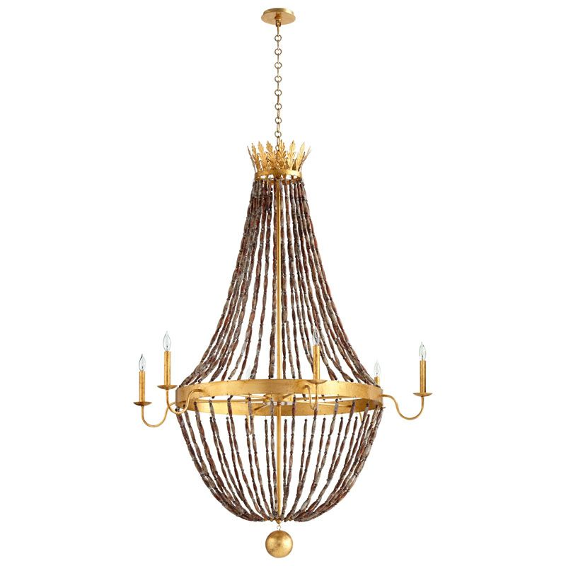 Cyan Design Alessia Six Light Chandelier Alessia 6 Light 1 Tier Candle