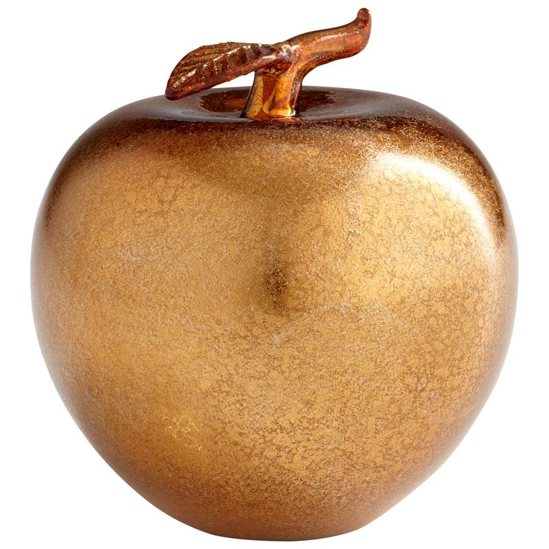 Cyan Design Bronze Apple Bronze Apple 4.25 Inch Tall Glass Sculpture