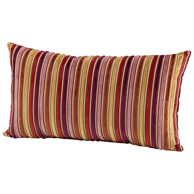 Cyan Design Vibrant Strip Pillow Vibrant Strip 14 x 24 Rectangular