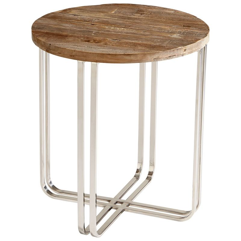 Cyan Design Montrose Side Table Montrose 22.5 Inch Diameter Stainless