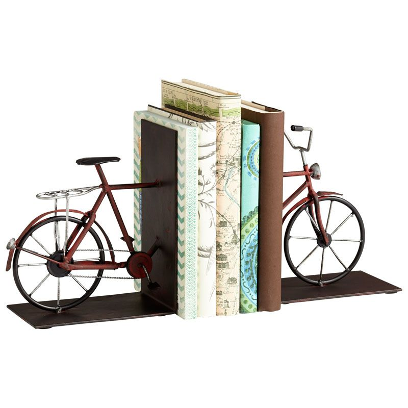 Cyan Design Pedal Bookends 7.75 Inch Tall Pedal Bookends Multi Colored