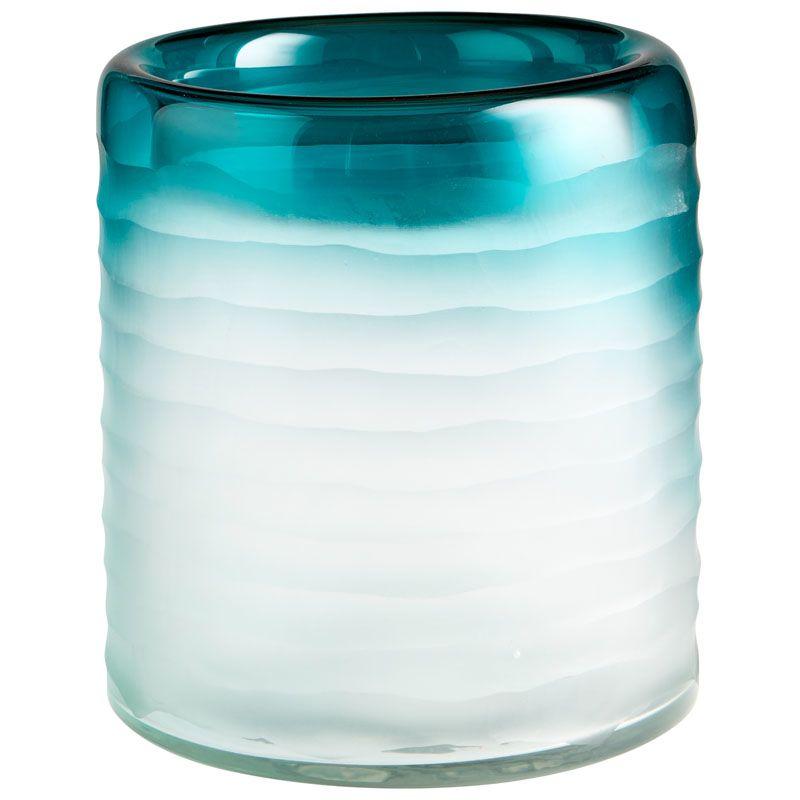 Cyan Design Thelonious Vase Thelonious 8.5 Inch Tall Glass Vase Blue /