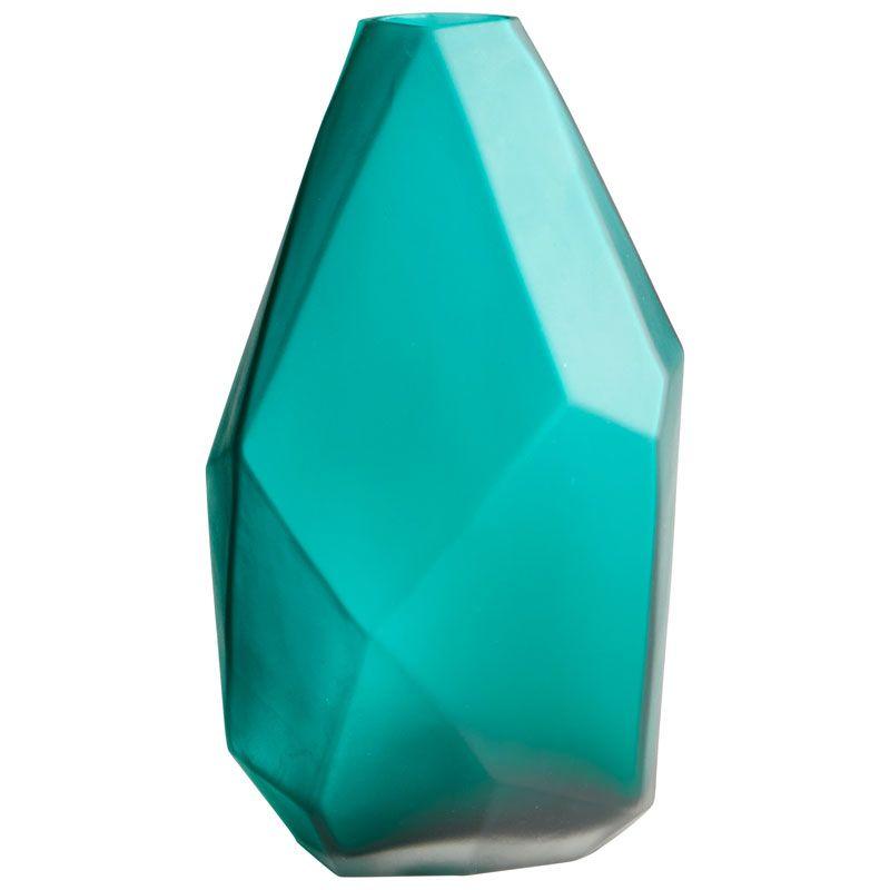 Cyan Design Small Bronson Vase Bronson 8.5 Inch Tall Glass Vase Green