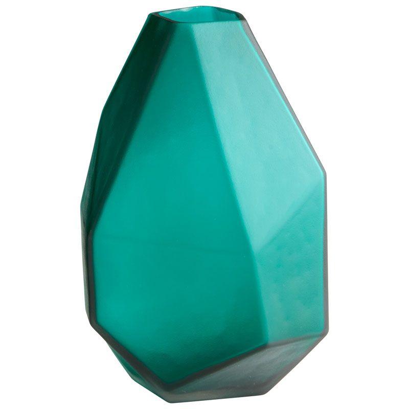 Cyan Design Medium Bronson Vase Bronson 11 Inch Tall Glass Vase Green