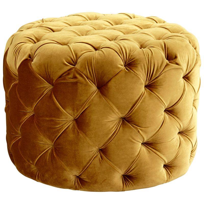 Cyan Design Miss Muffet Ottoman Miss Muffet Round Wood and Foam