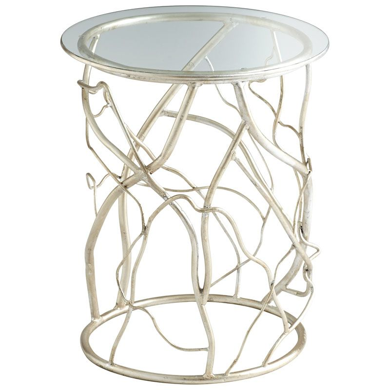 Cyan Design Twisted Love Table Twisted Love 18 Inch Diameter Iron and