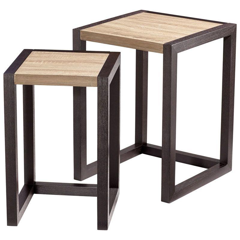 Cyan Design Becket Nesting Tables Becket 17.5 Inch Long Wood Nesting