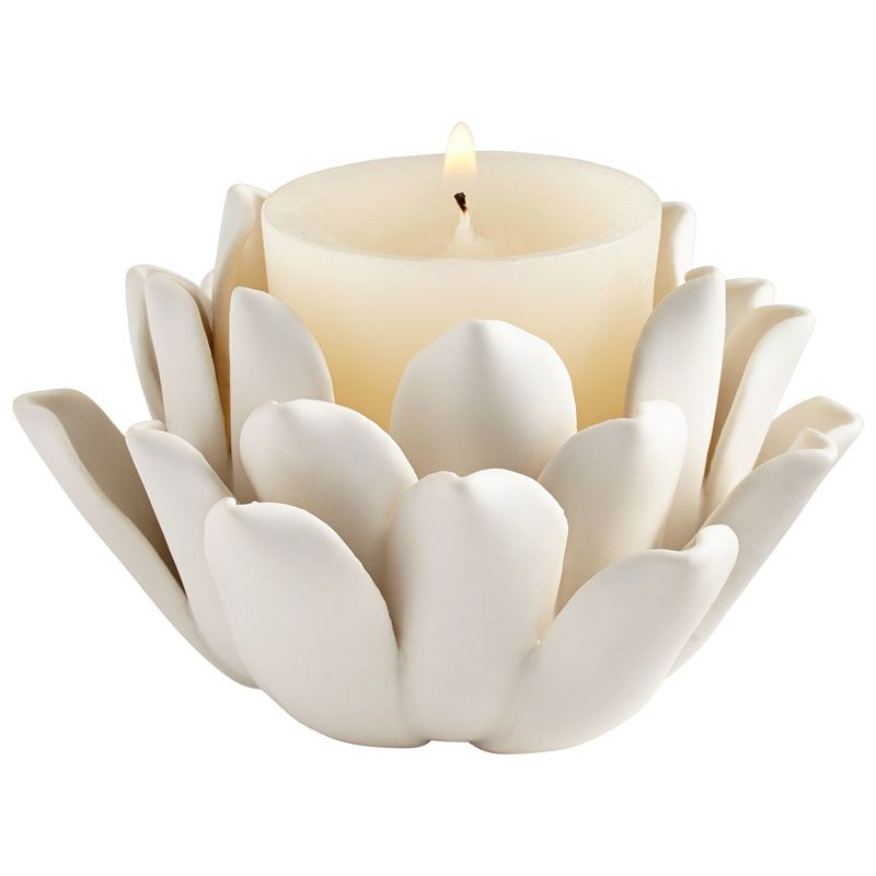 Cyan Design Dahlia Candle Holder Dahlia 2.5 Inch Tall Ceramic and