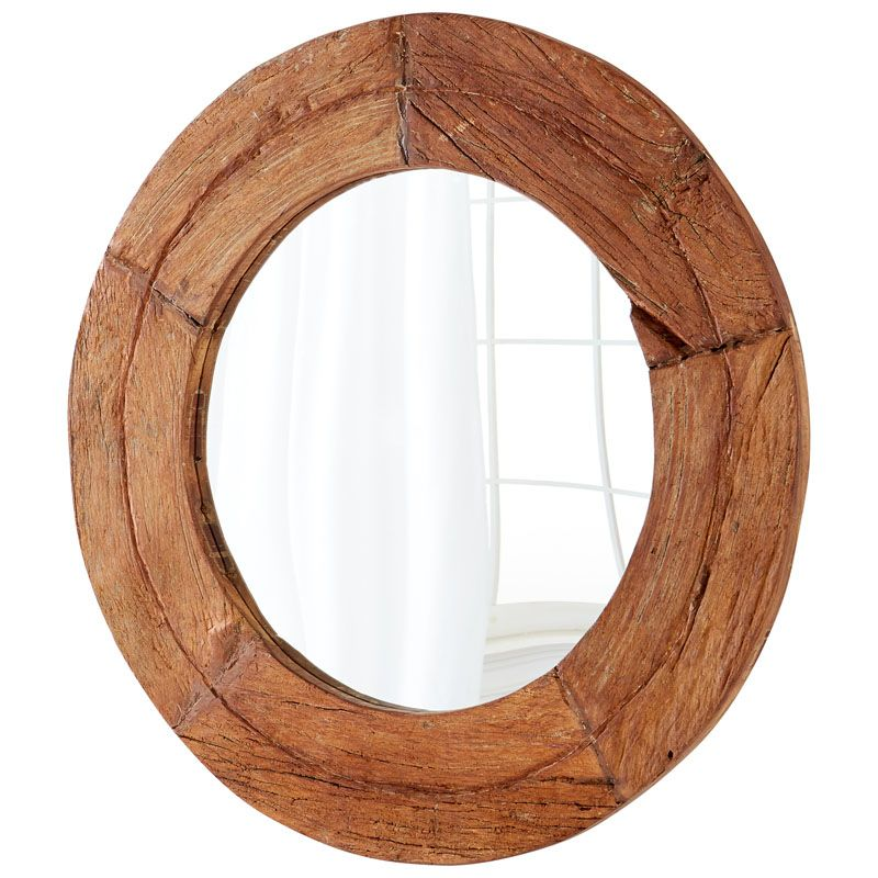 Cyan Design Murray Mirror 7 Inch Diameter Murray Wood Mirror Made in