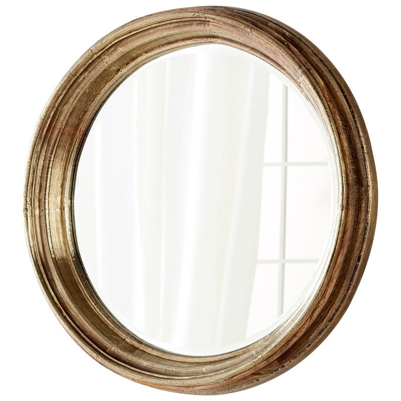 Cyan Design Mint Mirror 7 Inch Diameter Mint Wood Mirror Made in India