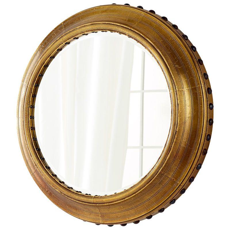 Cyan Design Adonia Mirror 7 Inch Diameter Adonia Wood Mirror Made in