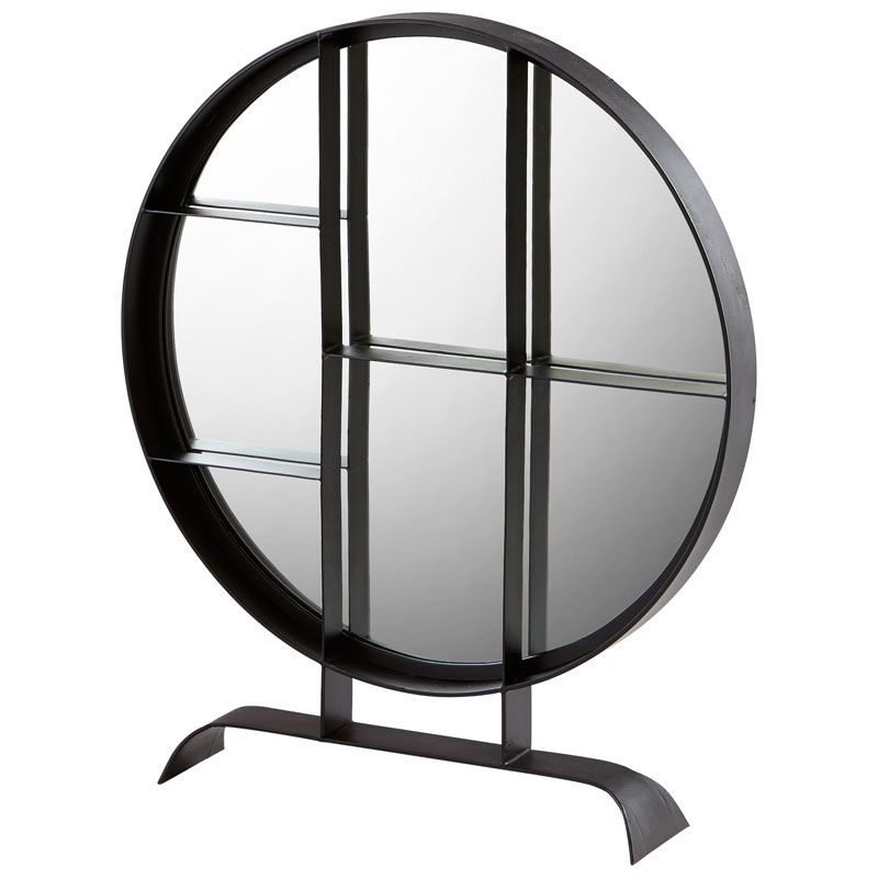 Cyan Design Large Nexus Mirror 38 x 32 Nexus Circular Iron Frame