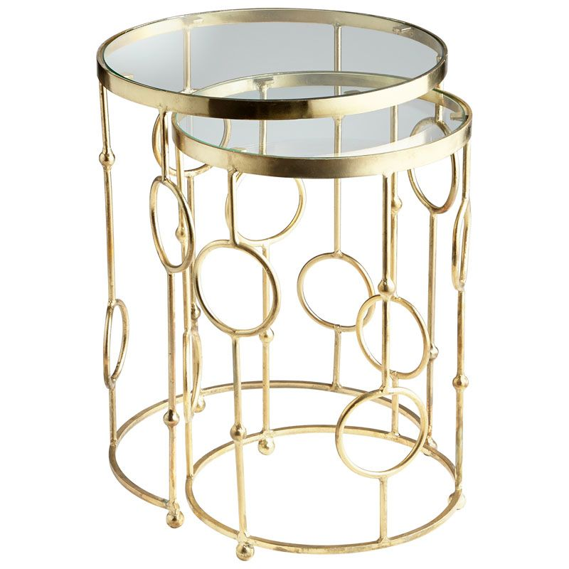 Cyan Design Perseus Nesting Tables Perseus 18.25 Inch Diameter Iron