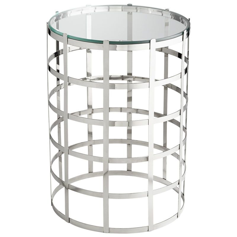 Cyan Design Ecliptic Table Ecliptic 17 Inch Diameter Stainless Steel