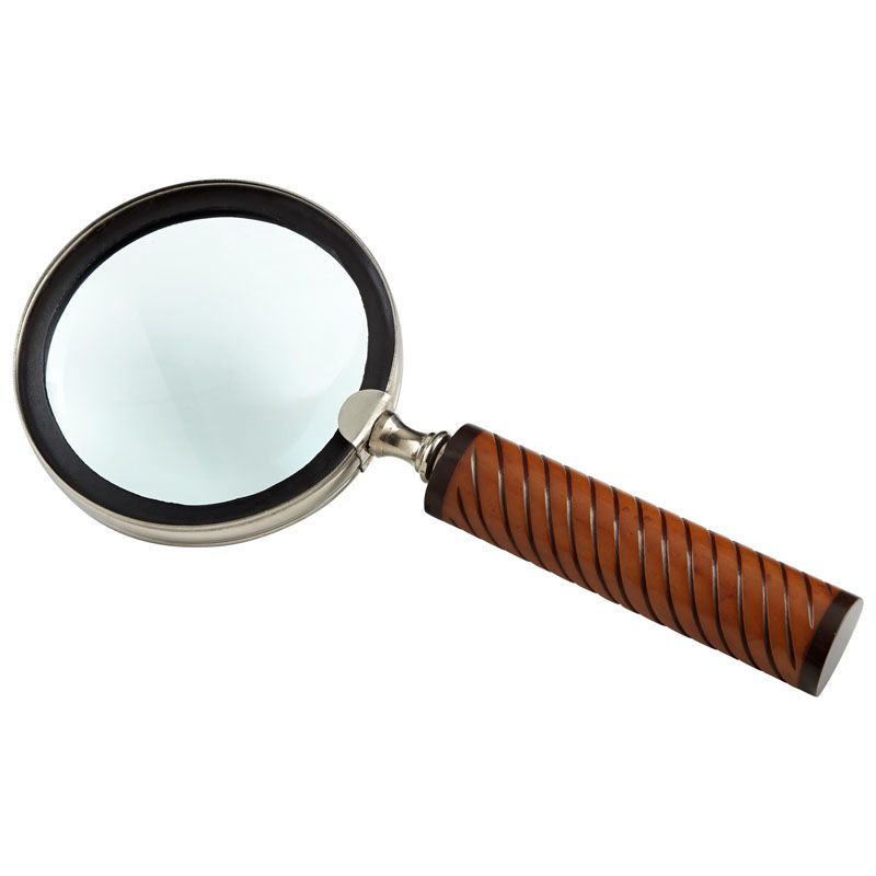 Cyan Design Holding Magnifier Holding 0.75 Inch Tall Brass Magnifier