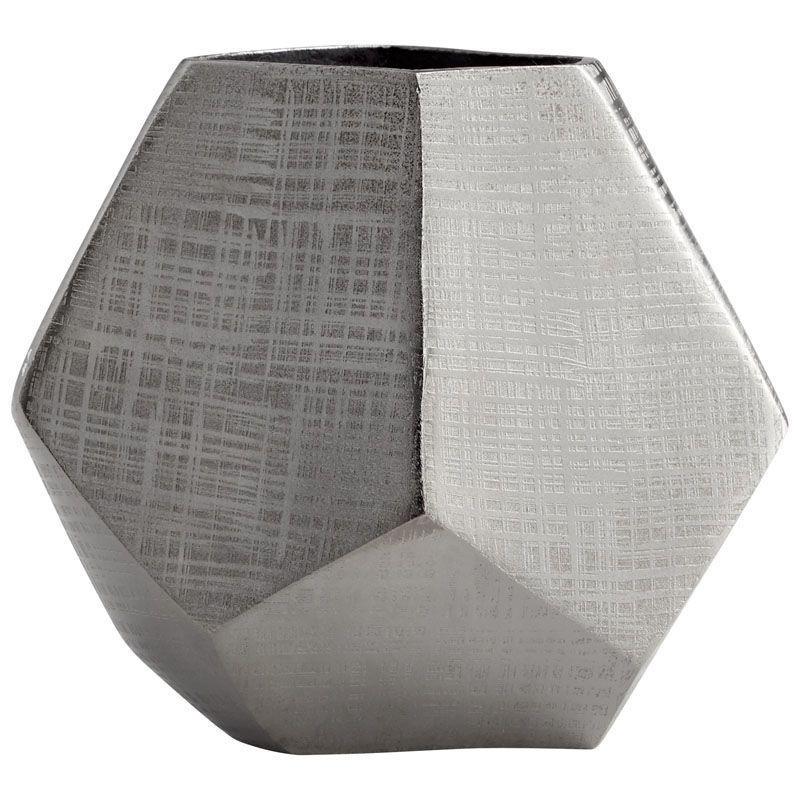 Cyan Design Small Vulcan Vase Vulcan 6.75 Inch Tall Aluminum Vase Made