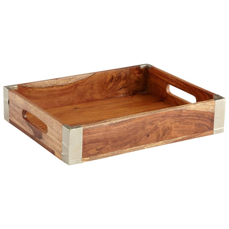 Cyan Design Wembley Tray Wembley 12.75 Inch Wide Wood Tray Made in