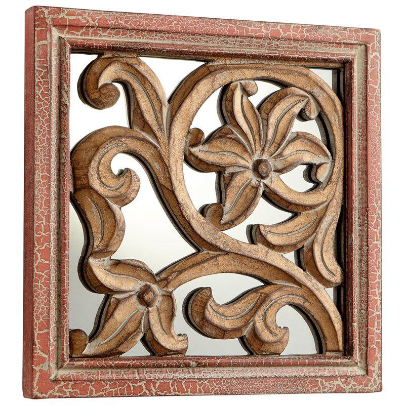 Cyan Design Vigue Mirror 10 x 10 Vigue Square Wood and MDF Mirror Made