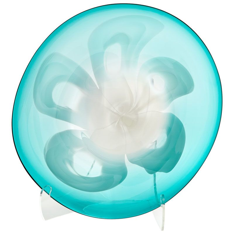 Cyan Design Medium Flower Power Plate Flower Power 18.75 Inch Diameter