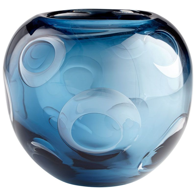 Cyan Design Electra Vase Electra 7 Inch Tall Glass Vase Blue Home