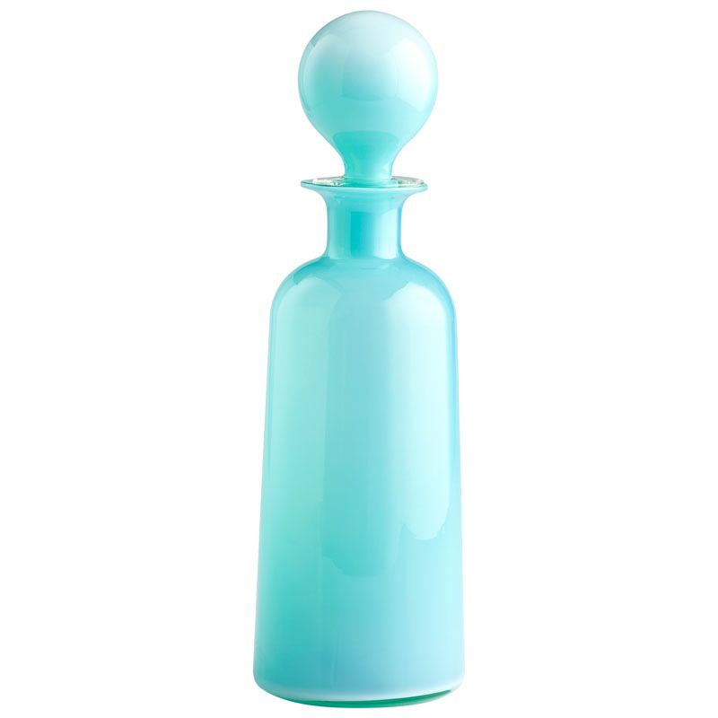 Cyan Design Large Lyla Container Lyla 18 Inch High Glass Decanter Sky